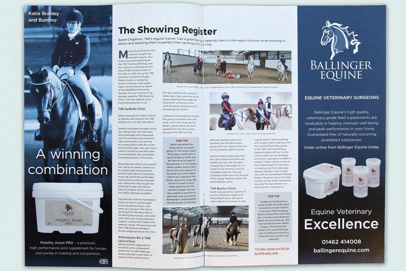 Hillier Consulting creates print advertising campaign for Ballinger Equine